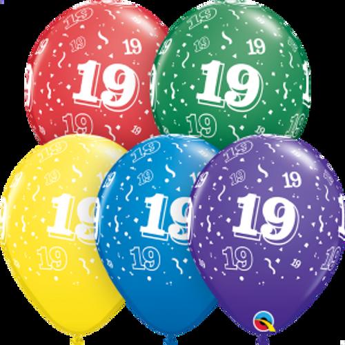 """19 Confetti-A-Round 11"""" Latex Balloon"""