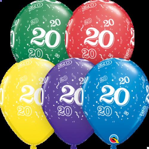 """20 Confetti-A-Round 11"""" Latex Balloon"""