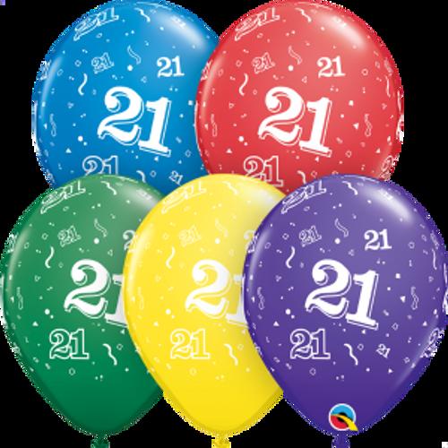 """21 Confetti-A-Round 11"""" Latex Balloon"""