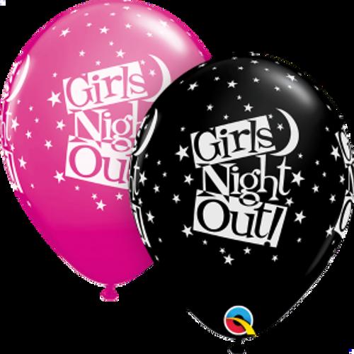 "Girls Night Out Stars 11"" Latex Balloon"