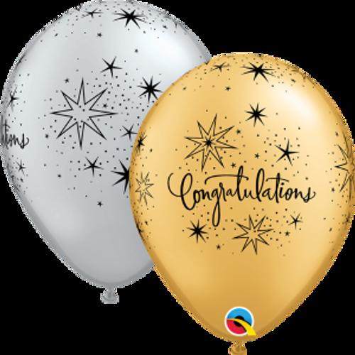 "Congratulations Elegant 11"" Latex Balloon"