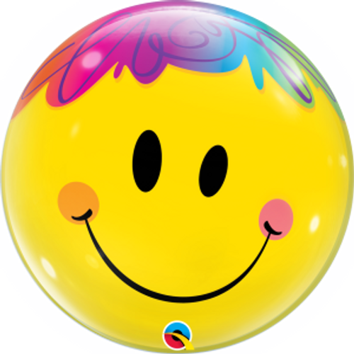 "Bright Smile Face 22"" Bubble Balloon"