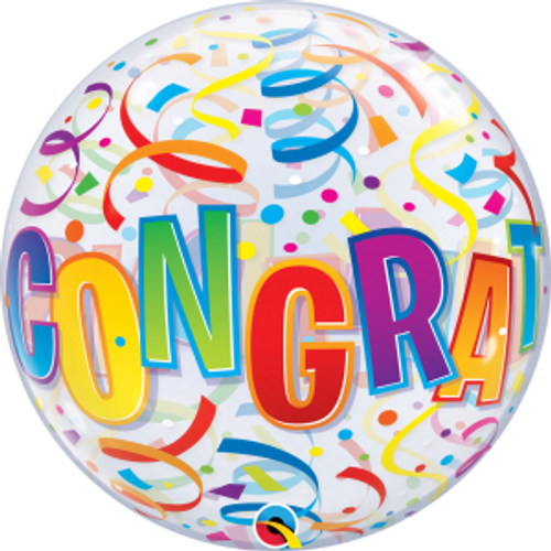 "Congratulations Around 22"" Bubble Balloon"