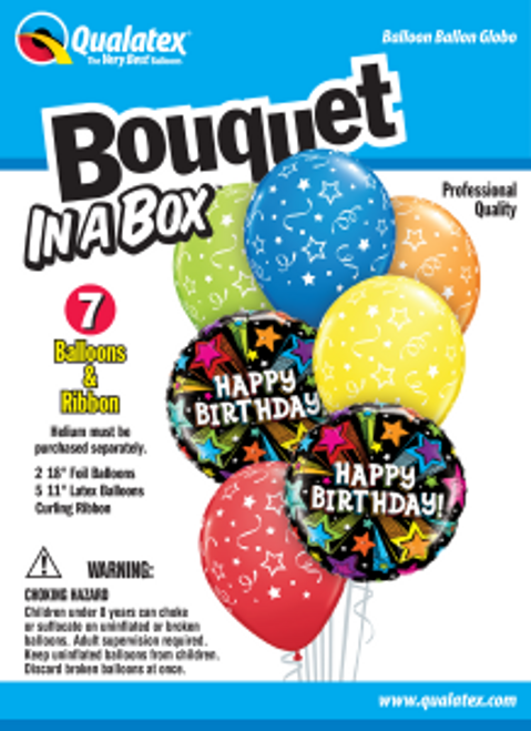 Birthday Shooting Stars Bouquet In A Box