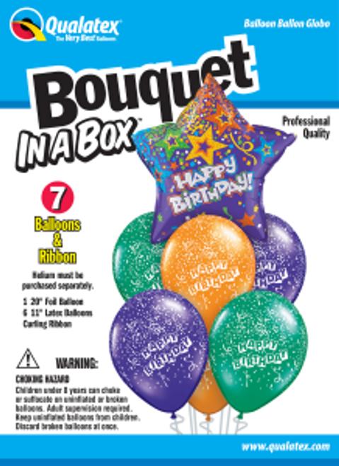 Birthday Purple Star Bouquet In A Box