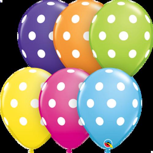 """Big Polka Dots  Assortment 11"""" Latex Balloon"""