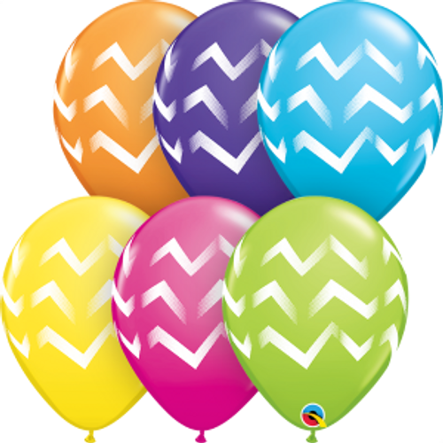 "Chevron Stripes 11""  Latex Balloon"
