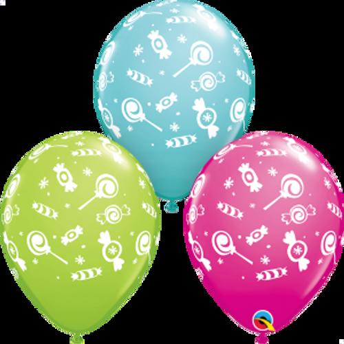 "Candies-A-Round 11""  Latex Balloon"