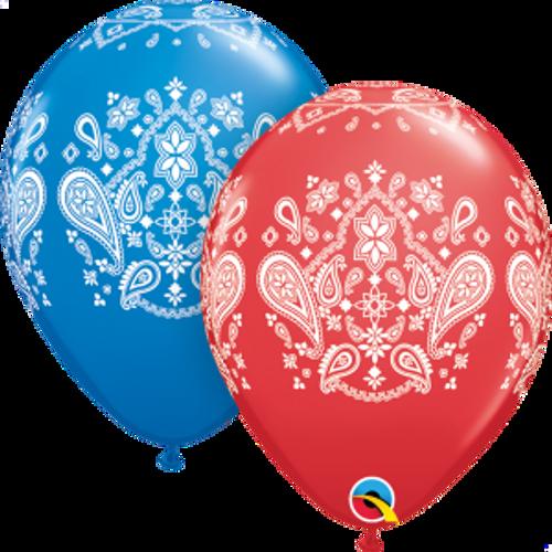"""Bandana 11""""  Latex Balloon"""