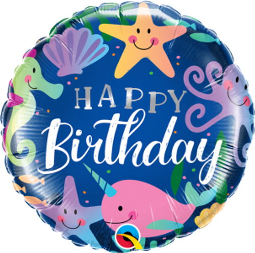 "Birthday Fun Under The Sea 18"" Foil Balloon"