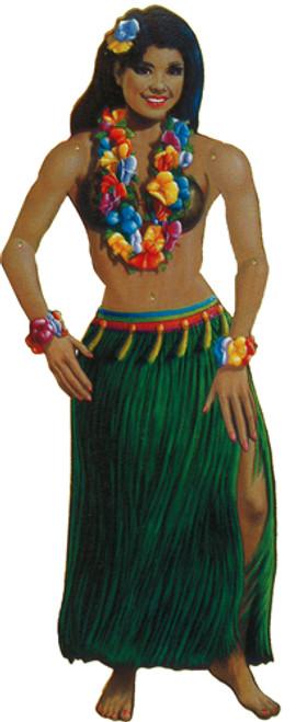 Cardstock Hula Girl Jointed Cutout