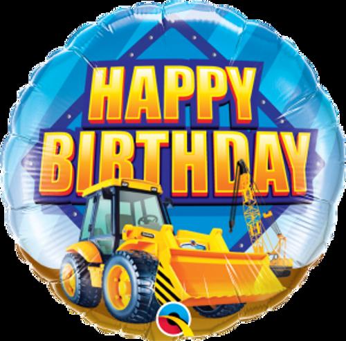 "Birthday Construction Zone 18"" Foil Balloon"