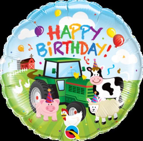 """Birthday Barnyard 18"""" Foil Balloon"""