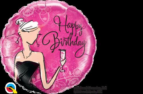 "Birthday Black Dress 18"" Foil Balloon"