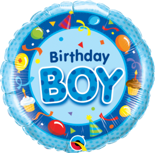 "Birthday Boy Blue 18"" Foil Balloon"
