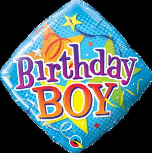 "Birthday Boy Stars 18"" Foil Balloon"