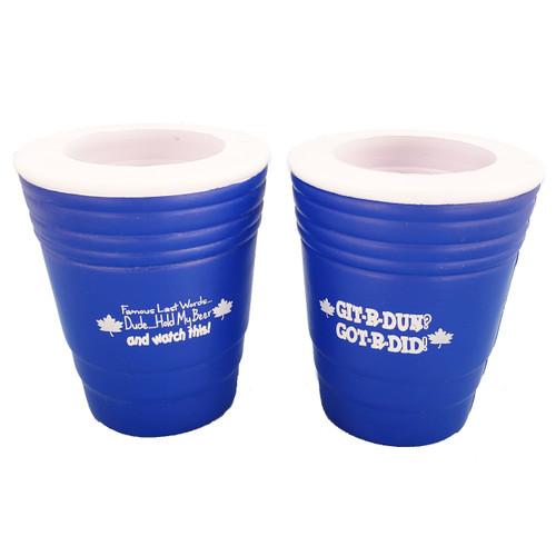 Blue Foam Drink Holder w/ Sayings