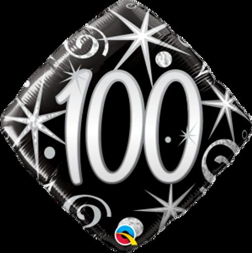 "100 Elegant Sparkles & Swirls 18"" Foil Balloon"