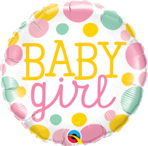 "Baby Girl Dots 18"" Foil Balloon"