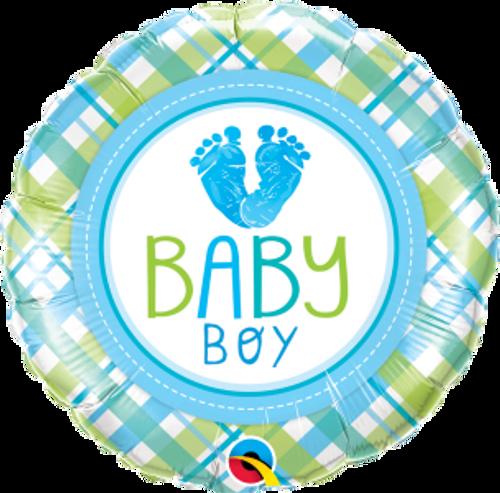 """Baby Boy LO(FEET)E 18"""" Foil Balloon"""