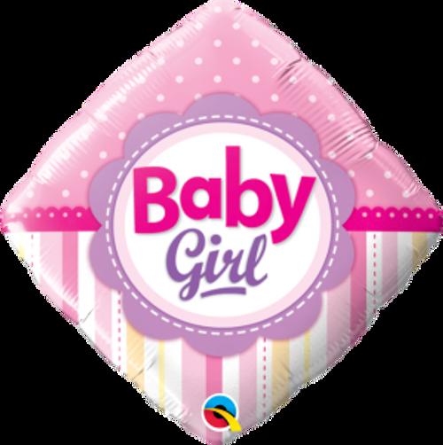 "Baby Girl Dots & Stripes 18"" Foil Balloon"