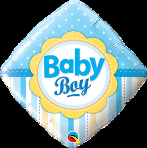"""Baby Boy Dots & Stripes 18"""" Foil Balloon"""