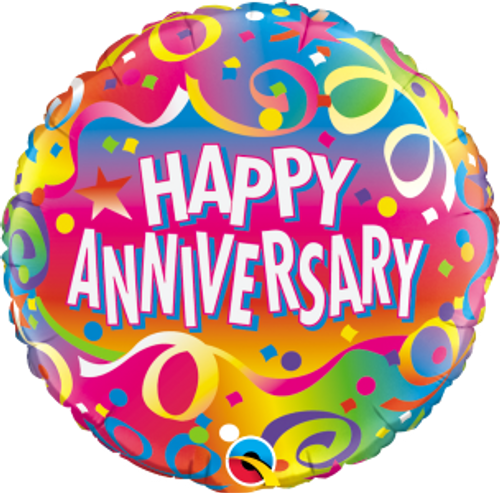 """Anniversary Confetti 18"""" Foil Balloon"""