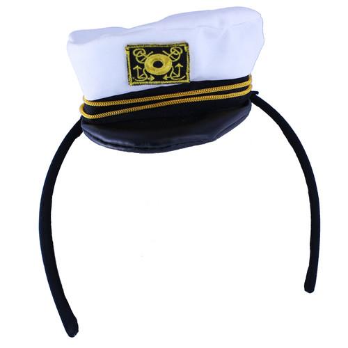 Mini Captain Hat Headband