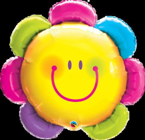 "Funny Face Flower 32"" Foil Balloon"