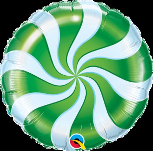 "Candy Swirl Green 18"" Foil Balloon"