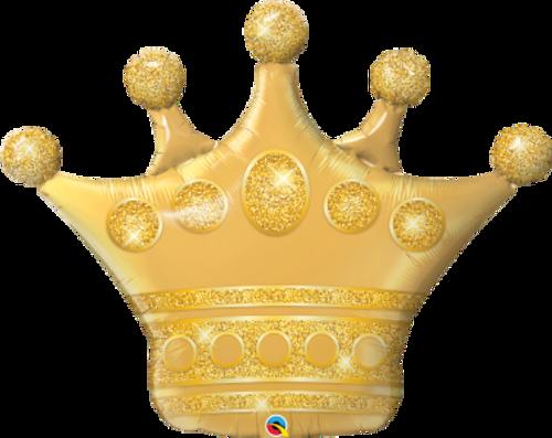 """Golden Crown 41"""" Foil Balloon"""