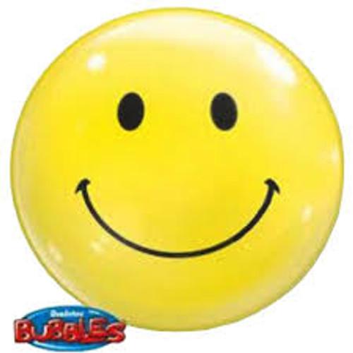 """Smile Face 22"""" Bubble Balloon"""