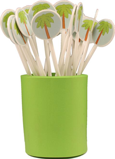 Palm Tree Stir Sticks 25 PC