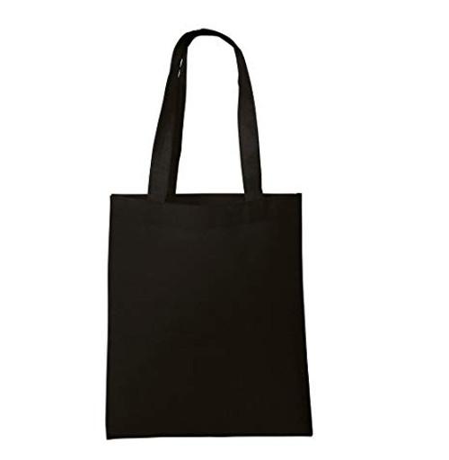 Black Nonwoven  Tote Bags