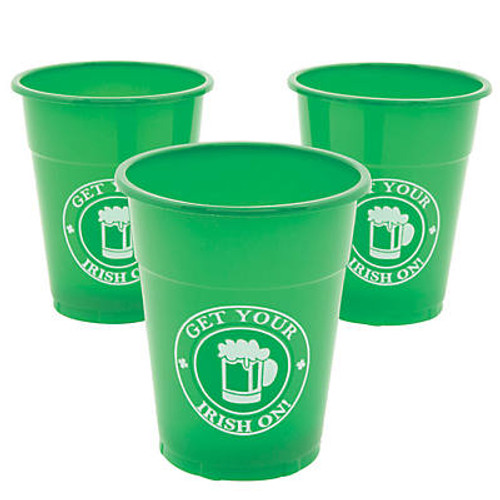 Get Your Irish On Plastic Cups 25 PK