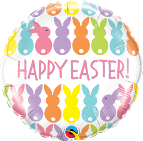 "Easter Bunnies Line-Up 18"" Foil Balloon"