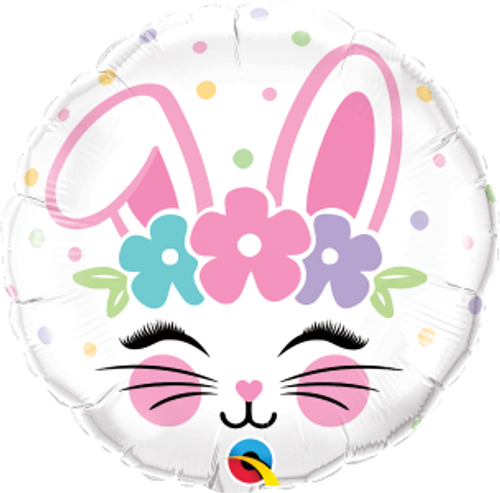"Bunny Face 18"" Foil Balloon"
