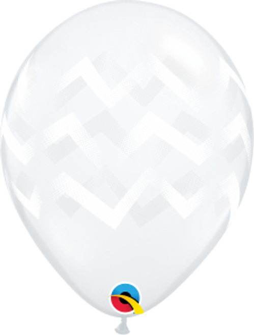 "Chevron Stripes Clear 11""  Latex Balloon"