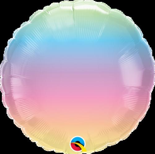"""Pastel Ombre 18"""" Foil Balloon"""