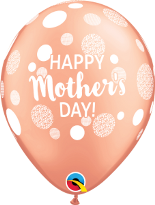 """Happy Mother's Day Dots 11"""" Latex Balloon"""