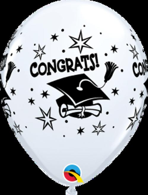 """Congrats! Cap 11""""  Latex Balloon"""