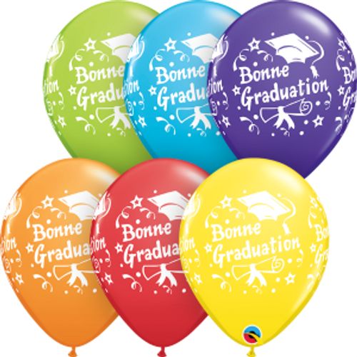 "Bonne Graduation Étoiles 11"" Ballon en latex"