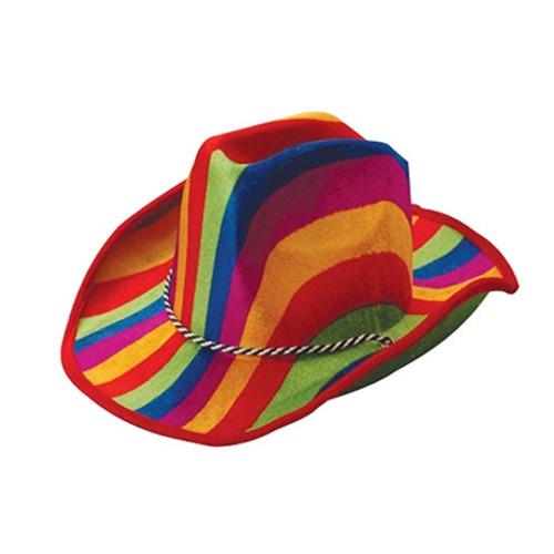 Rainbow Stripe Cowboy Hat