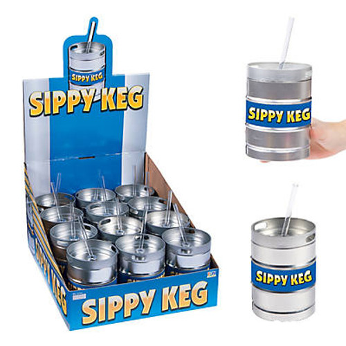 Beer Keg Cups with Straws