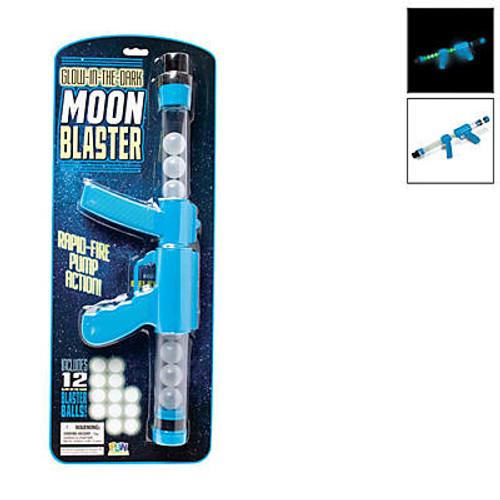 Blue Glow-in-the-Dark Moon Blaster Guns