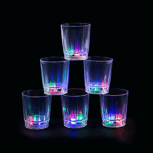 Light-Up Clear Shot Glasses