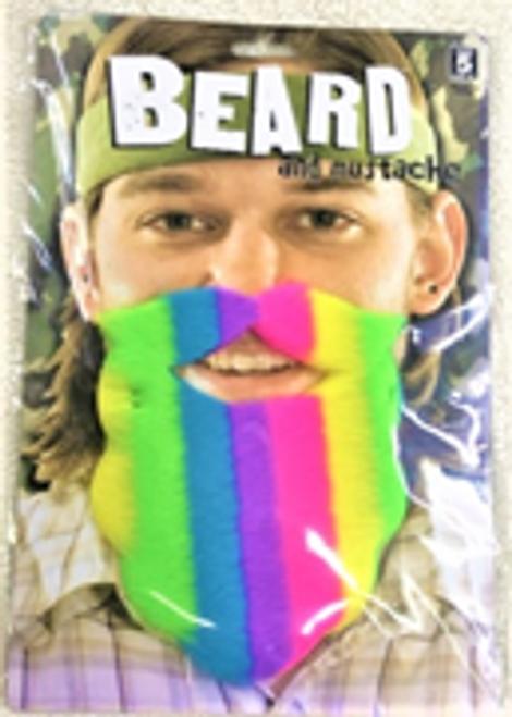 Rainbow Costume Beard