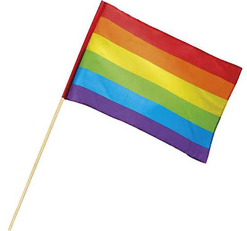 "Rainbow Hand Waving Flag 30"" x 40"""