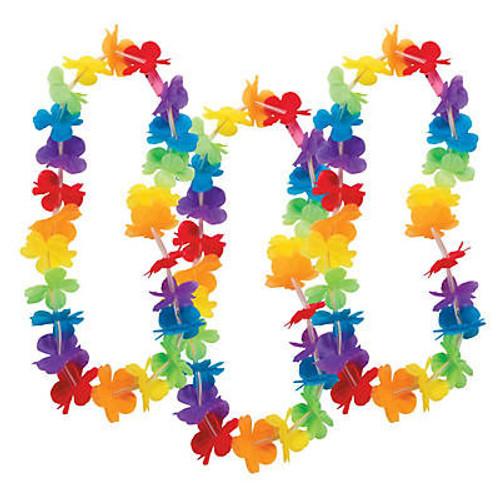 Polyester Light-Up Rainbow Flower Leis