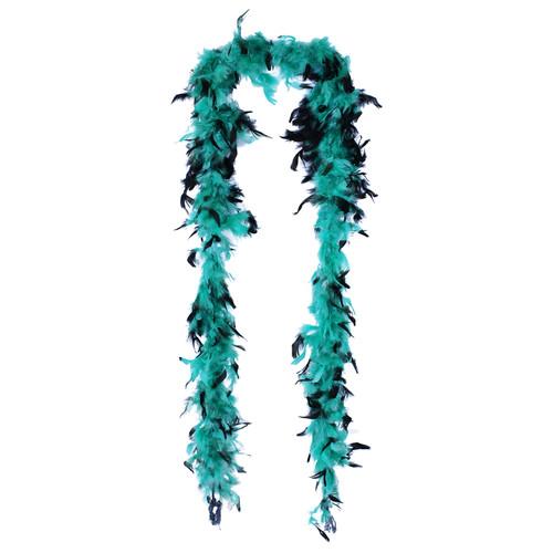 Jade & Black Feather Boa